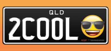 Number plate with emojis
