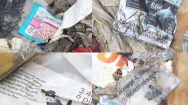 Some of the plastics from different countries found in Jenjarom