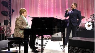 Sir Elton John and Taron Egerton