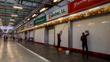 Mercabarna market - outlets shut, 3 Oct 17