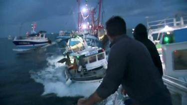 French and UK boats collide in the English Channel during a row over scallops