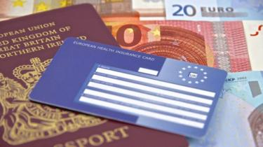 Ehic card, passport and euros