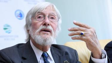 Jean-Michel Cousteau in Moscow, 4 Apr 19