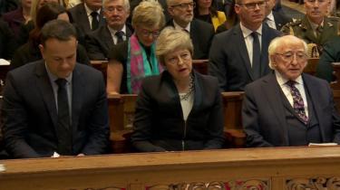Leo Varadkar, Theresa May and Michael D Higgins