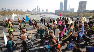 Climate change protestors
