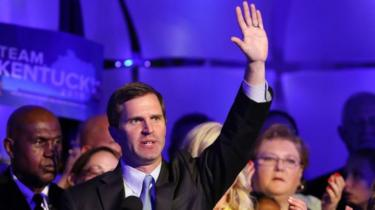 Andy Beshear pictured on 5 November, 2019 in Louisville, Kentucky