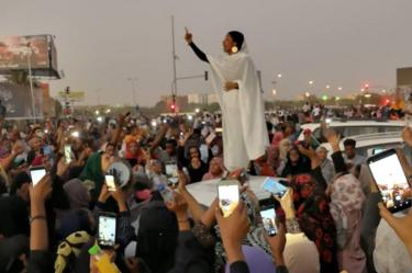 Alaa Salah in Khartoum, 8 April