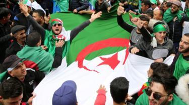 Algerian protestors