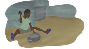 On trouve des enfants travaillant dans des conditions difficiles dans les mines