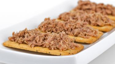 Tinned tuna and crackers, file pic