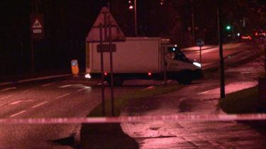 Abandoned lorry on Northland Road in derry