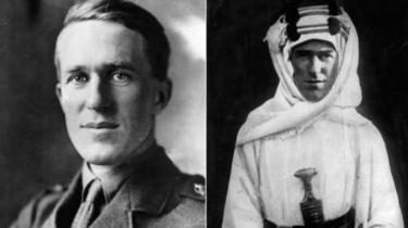 اهتمام لورانس بالشرق الأوسط انبثق عن شغفه بالتاريخ والآثار وفي الحرب العالمية الأولى عمل مع المخابرات البريطانية خلال القتال ضد الأتراك