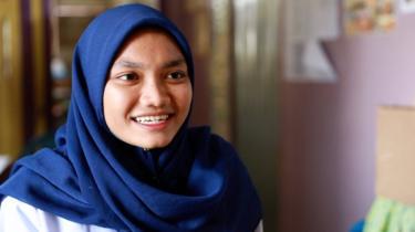 Siti Nor Cahyati, siswi di CLC, pusat kegiatan belajar masyarakat, sabah, tki