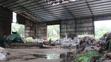 A plastic recycling factory in Kuala Langat