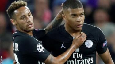 Neymar a na Mbappe