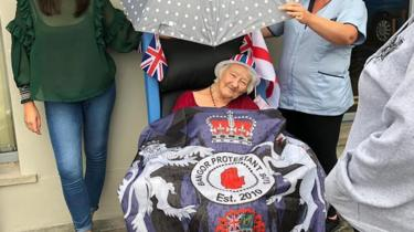 The Twelfth: 'Queen Elizabeth' brings band to Bangor care home