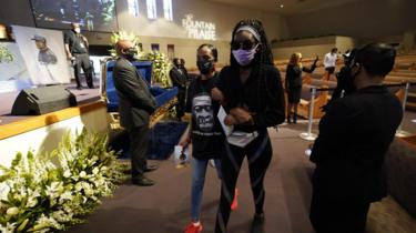 Mourners in Houston, 8 June