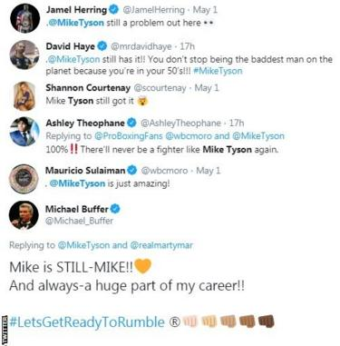 """Those in the boxing world react to the Mike Tyson video of him punching the pads. David Haye says Tyson """"is still the baddest man on the planet"""" whilst WBC president Mauricio Sulaiman says """"Tyson is just amazing!"""""""
