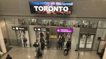 Views of Toronto Pearson International Airport in Toronto, Canada