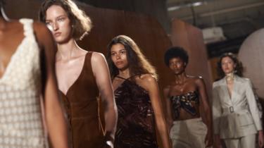 Models at the Alexa Chung fashion show