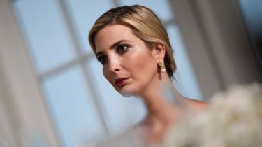 US President's Special Advisor and daughter Ivanka Trump attends a dinner with the US president and business leaders in Bedminster, New Jersey, on August 7, 201