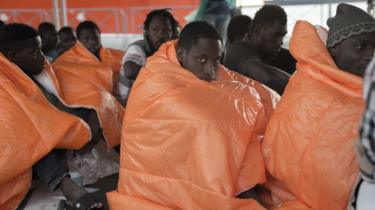 Rescued African migrants arriving in Italy in 2016