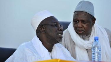 Des chefs religieux maliens, dont Mahmoud Dick, le président du Haut Conseil islamique du Mali, organisateur de la marche de vendredi 5 avril 2019.