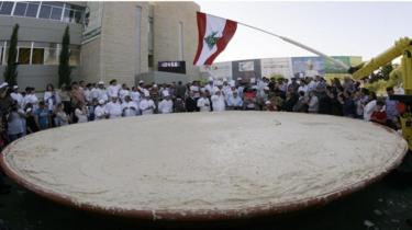 lebanon world`s biggest hummus