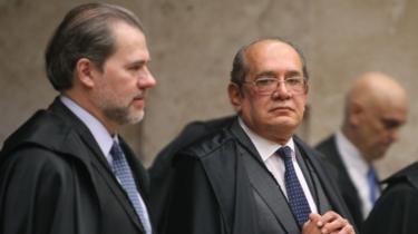 Da direita para a esquerda: Dias Toffoli, Gilmar Mendes e Alexandre de Moraes