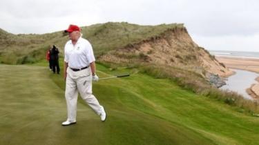 Donald Trump at Doonbeg Golf Course