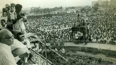 रामलीला मैदान में जय प्रकाश नारायण की रैली