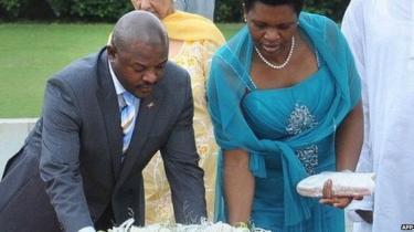 Pierre Nkurunziza na mkewe Denise wana watoto watano