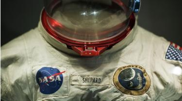 Space suit worn by Alan Shepard, commander of the Apollo 14 mission to the Moon