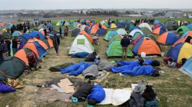 Migrant camp, Diavata, 5 Apr 19