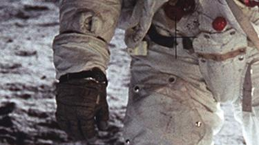 Detail of Buzz Aldrin's wristwatch