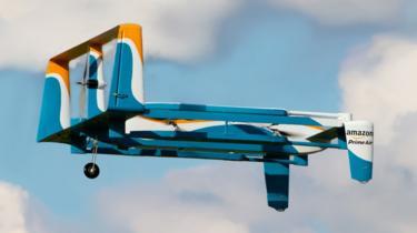 Amazon drone graphic