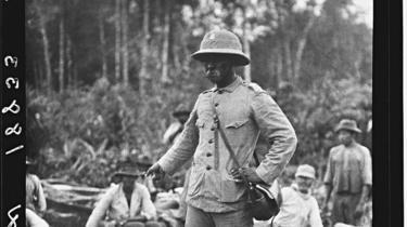 Rondon na nascente do rio da Dúvida, durante expedição com Roosevelt