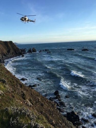 Car crash in Pacific Ocean