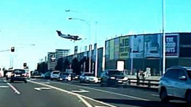 The plane immediately before crashing into a Melbourne shopping centre