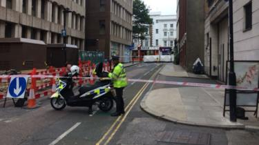 Scene of crash at Holborn