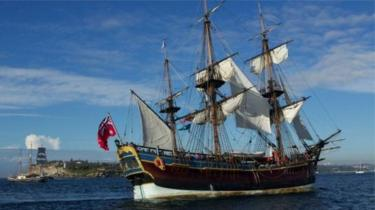 A replica of the HMS Endeavour