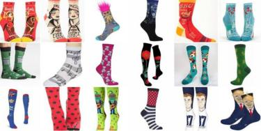 A selection of socks sold by the online store