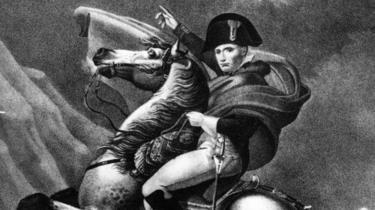 Napoléon Bonaparte, l'empereur de France et roi d'Italie, à cheval.