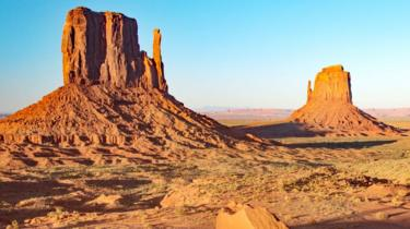 View of the Navajo lands