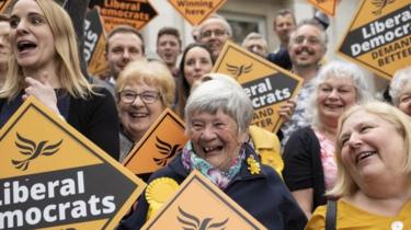 Liberal Democrat activists in Chelmsford on 3 May