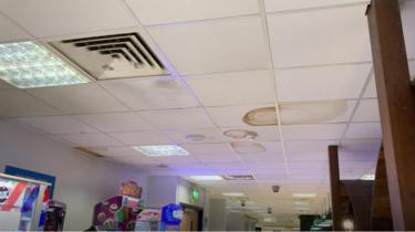 A picture from inside Belfast International Airport