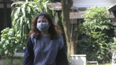 rumah orang yang tertular virus corona di Depok.