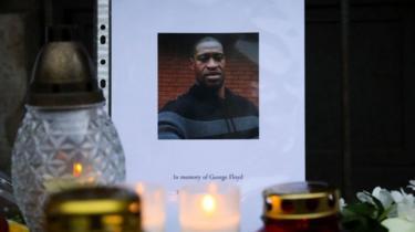 black American George Floyd death