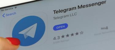 Telegram app on mobile phone, file pic
