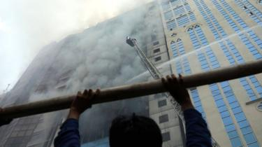Blaze at a multi-storey commercial building in Dhaka, Bangladesh, on 28 March 2019